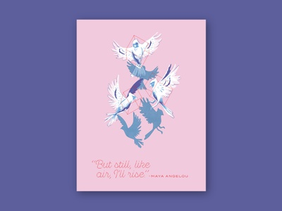 Trans Lifeline Poster show maya angelou transport flying flight cardinals birds portland pdx trans lifeline