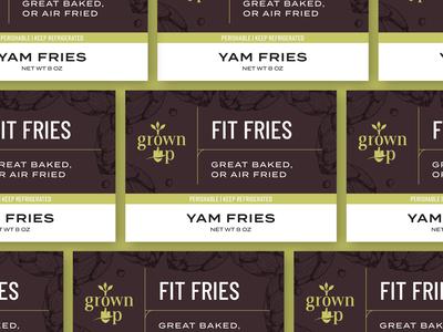 Grown Up Organics - Packaging Labels