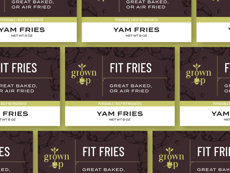 Grown Up Organics - Packaging Labels branding food packaging label grown up organics
