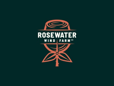 Rosewater Wind Farm rose logo branding edp wind farm