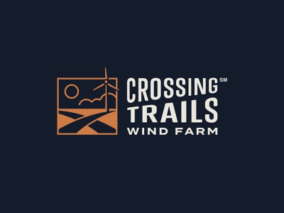 Crossing Trails Wind Farm branding logo turbine edp crossing trails wind farm