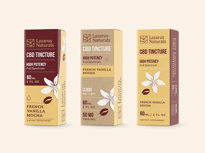 Lazarus Tincture Boxes | 2 - Unused cbd tincture packaging lazarus naturals branding