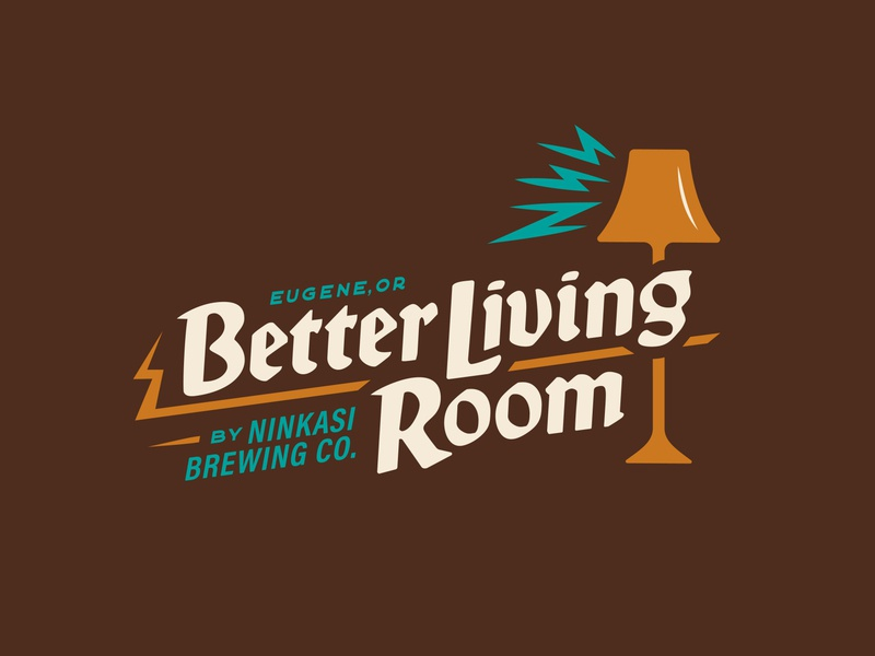 Better Living Room lightning lamp logodesign logos design branding branding design restaurant logo beer restaurant bar ninkasi brewing company perpetuate better living oregon