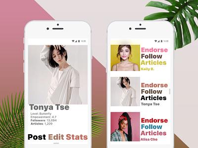 DailyUI #006 User Profile women empowerment life style 006 design challenge daily ui user profile