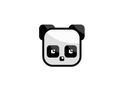 Cubic Panda Logo bear logos animals logos panda head logos panda logo identity brand logo cube square bear panda animal
