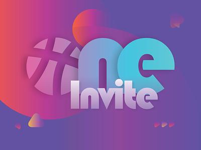 Invitation draft dream space dribbble invite invitation