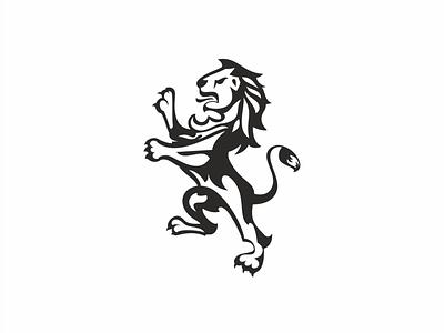 LION king royalty luxe animal white space ilustration logo lion
