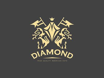 diamond black diamon illustration design crown king hats royalty logo