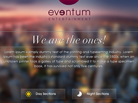Eventum Entertainment landing page by CoolApps(e)