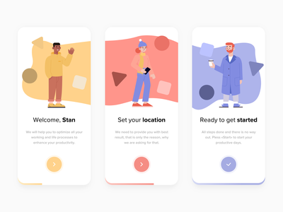 Onboarding mobile illustraion characters welcome shot clean design first firstshot welcome design ui clean clean ui steps flower onboarding
