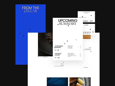 KANÉ black blue flavor romania logo typography design branding concept dine fine restaurant kane