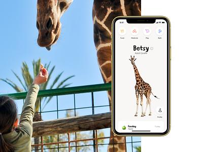 Tama Zoo App play adopt medicine food shelter animals tamagotchi ios app branding design ux ui