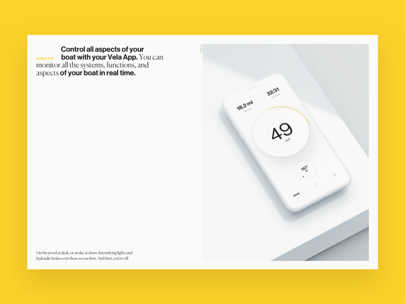 Vela Website white printed 3d website vela boat app ux ui typography branding design