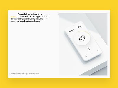 Vela Website white printed 3d website vela boat app ux ui typography branding design