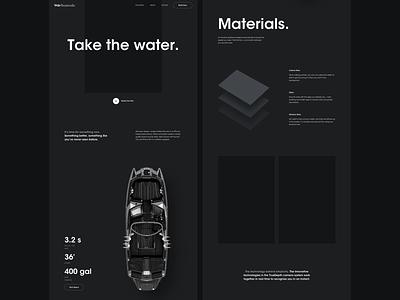 Vela Wires 3d wireframe vela boat concept dark sketch ux ui web branding