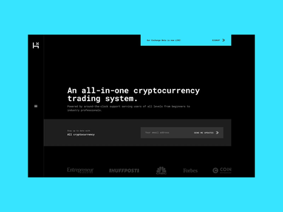 Hybrid Website system wallet crypto bitcoin trade blockchain block hybrid ui ux typography web design branding