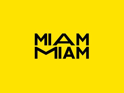 Miam Miam sandwich miam colors vector illustration logo branding design