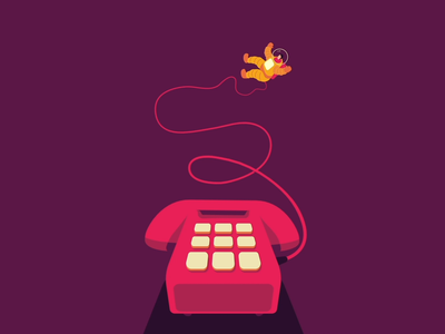 Astro ring flat minimal shop animation purple phone astronaut closer illustration branding design