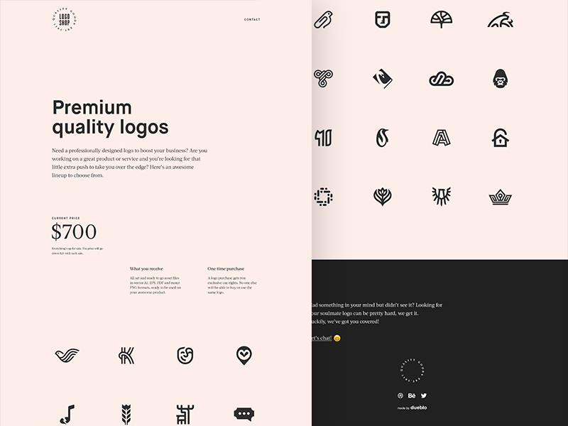 The Logo Shop premium web shop logo