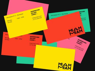 Miam Miam Business Cards shop quality typography design premium logo branding