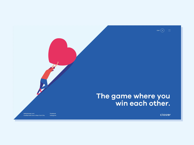 Closer Homepage animation vector branding design quality shop premium illustration site web