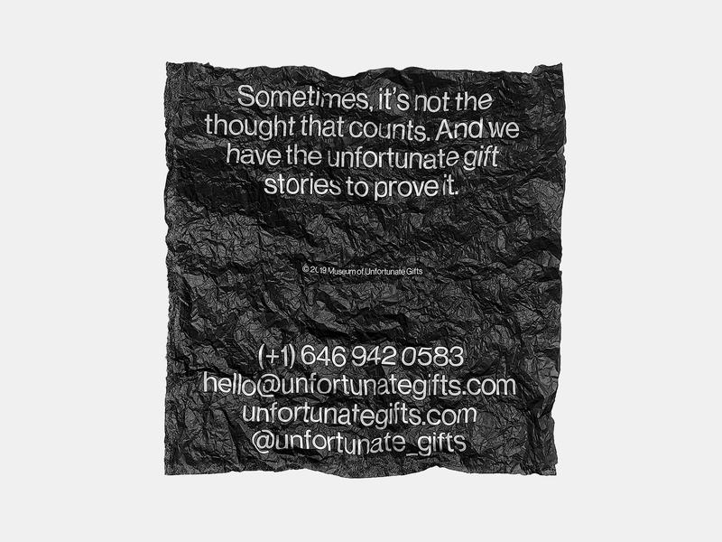Museum of Unfortunate Gifts Tissue design vector typography logo branding tissue unfortunate gift museum