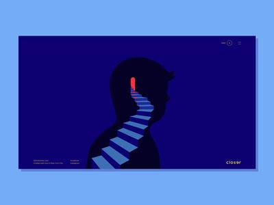 Closer Homepage Animation site vector website premium animation logo illustration branding ux ui design web game closer