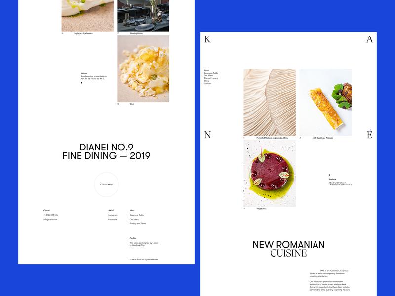 KANÉ Website typography logo cuisine restaurant webdesign website design branding