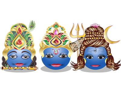Hindu God Smileys