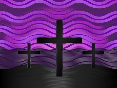 Lent Clipart-Calvary black purple somber christianity jesus crucifixion crucifix cross calvary lent