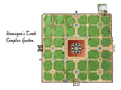 Humayun's Tomb Complex Garden Plan