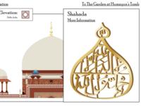 Shahada on top of Humayun's Tomb.