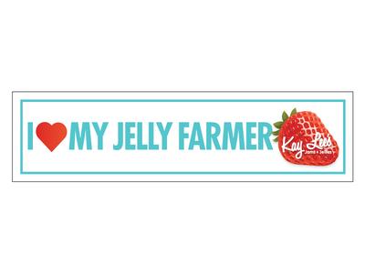 Jelly Farmer bumper stick farmer jams jelly indy design indiana logo branding