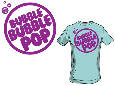 Bubble tee pop bubble t-shirt tee