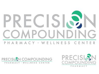 Precision Compounding Pharmacy rebranding branding logo wellness drugs pharmacy