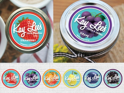 Jams & Jellies labels. kay lees fruit ball jar brand logo jellies jams