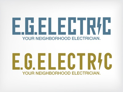 EG Electric branding logo typeface font indy electricity electric