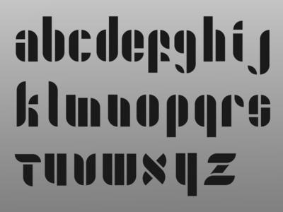 Split Stencil TypeFace san serif modern stencil font typeface