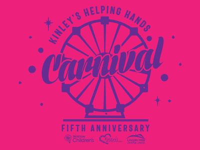 Carnival t-shirt design for Kinley's helping Hand fundraiser charity lincoln hills christian church norton childrens carnival tee design branding t-shirt logo