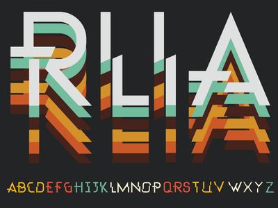 Rila typeface.