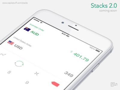 Stacks 2.0 | White currency ipad clean ux ui app iphone ios
