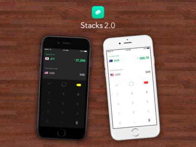 Stacks ios iphone app ui ux clean ipad currency calculator simple ios8