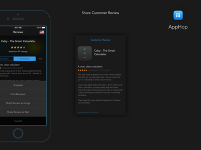 AppHop - Reviews appstore flat minimalist wireframe developer app apple itunes clean iphone ios xcode