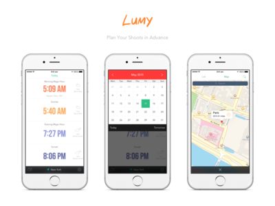 Lumy for iOS sunrise hours magic ipad iphone ios photography flat clean