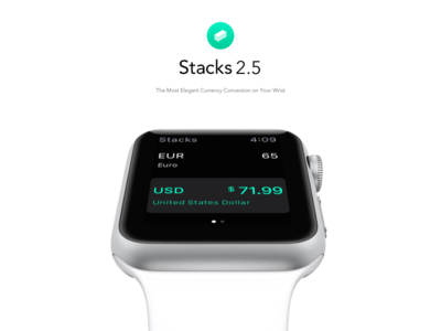 Stacks for Apple Watch watch apple simple calculator currency ipad clean ux ui app iphone ios