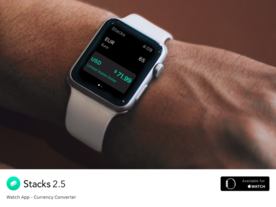 Stacks for Apple Watch - Converter ios iphone app ui ux clean ipad currency calculator simple watch apple