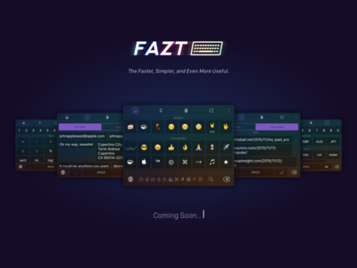 Fazt Keyboard flat mobile minimal app clean ux ui emoji 9 keyboard ios iphone