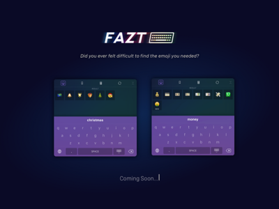 Fazt Keyboard | Search ipad iphone ios keyboard emoji ui ux clean app minimal mobile flat