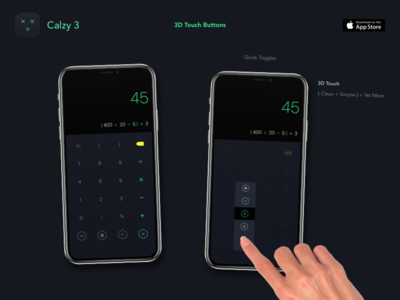 Calzy 3 - 3D Touch