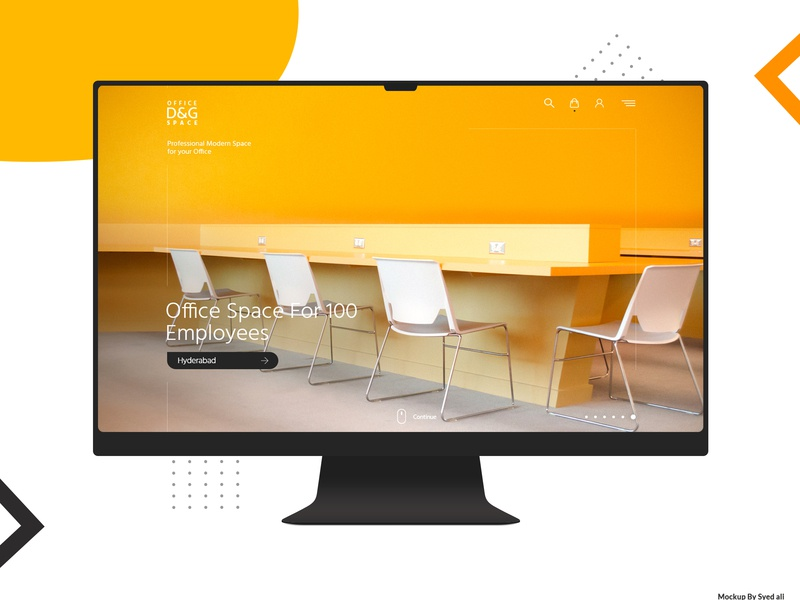 office space mockup psd free download